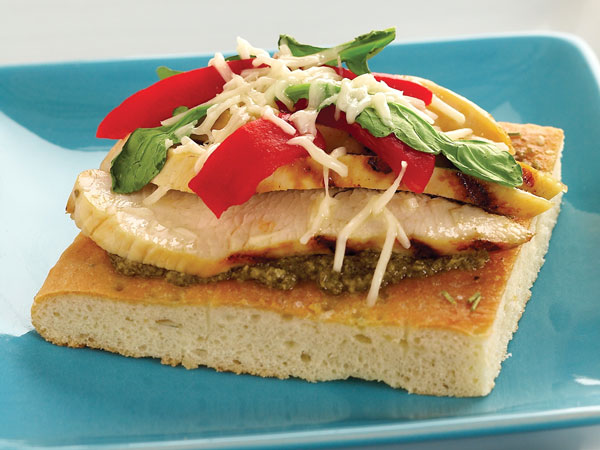 Grilled Chicken Focaccia Open Faced Sandwiches Hy Vee